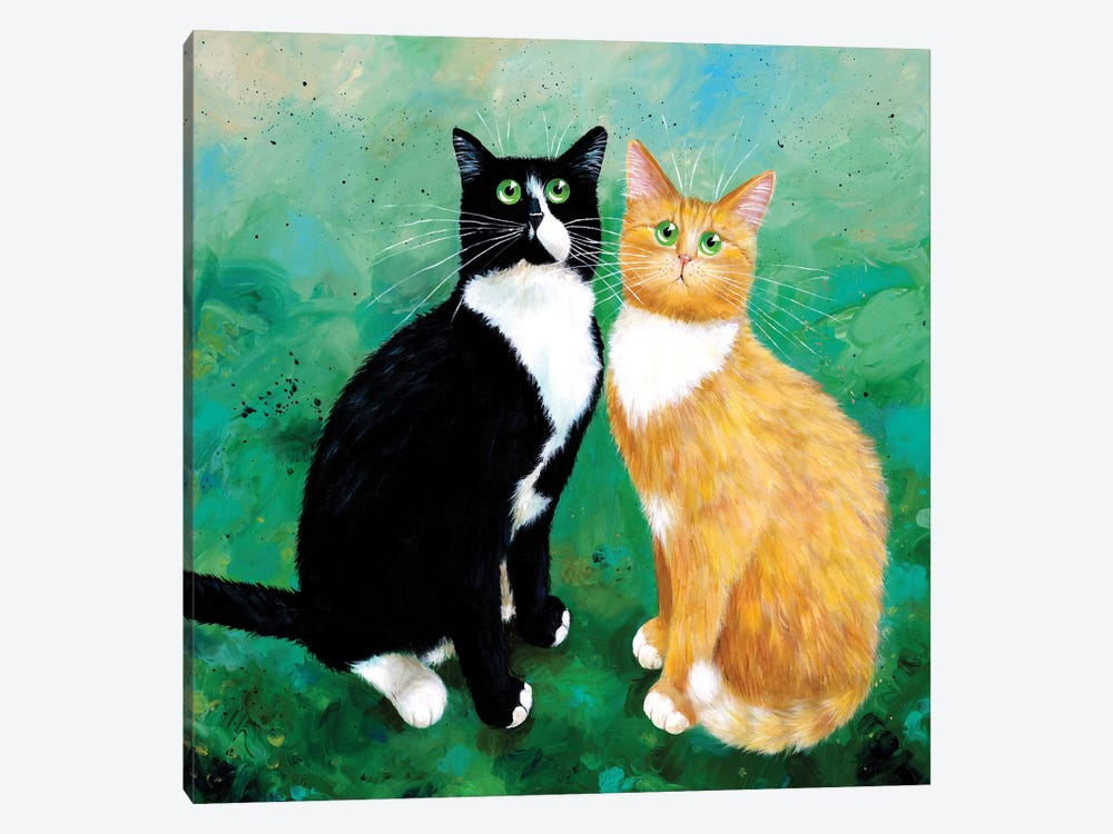 Milo And Archie by Kim Haskins 1-piece Canvas Artwork