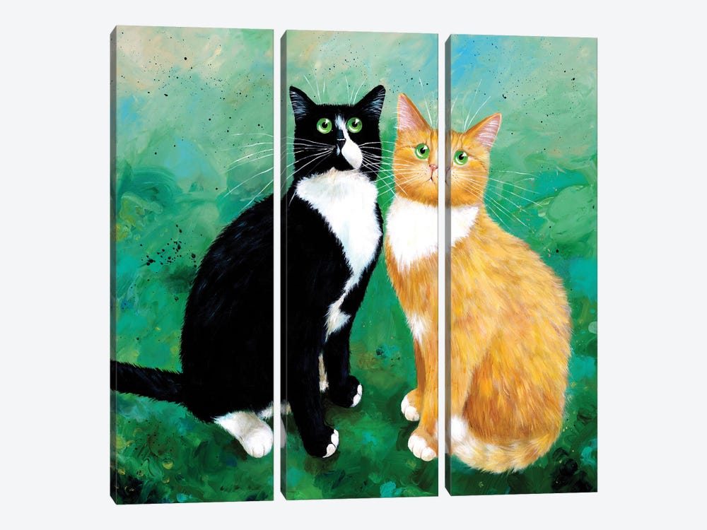 Milo And Archie by Kim Haskins 3-piece Canvas Wall Art