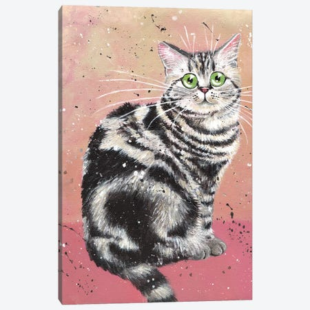 Elvis Cat Canvas Print #KIH110} by Kim Haskins Canvas Art