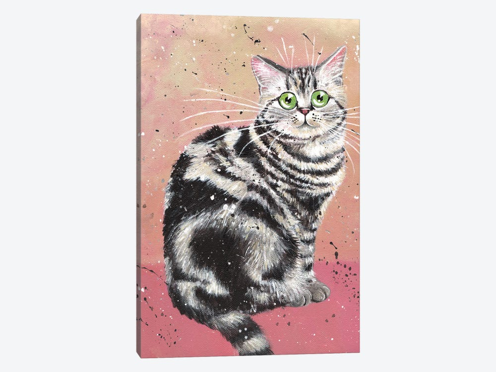 Elvis Cat by Kim Haskins 1-piece Canvas Wall Art