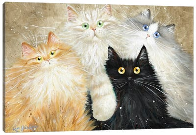Die Flauschige Bande (The Fluffy Gang) Canvas Art Print