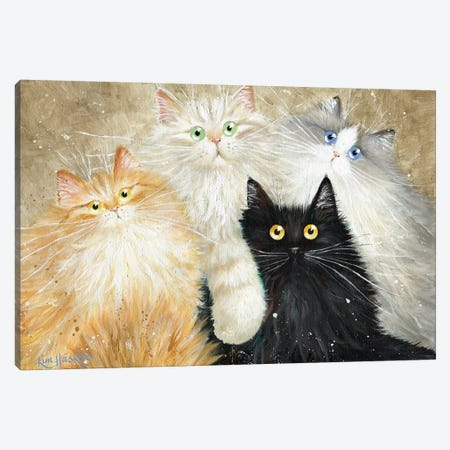 Die Flauschige Bande (The Fluffy Gang) Canvas Print #KIH11} by Kim Haskins Art Print