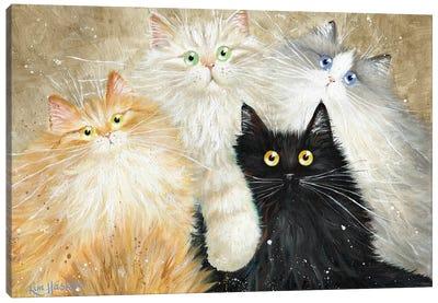 Die Flauschige Bande (The Fluffy Gang) Canvas Art Print