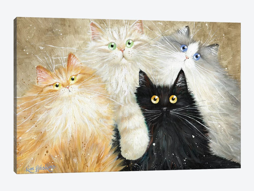 Die Flauschige Bande (The Fluffy Gang) by Kim Haskins 1-piece Canvas Art