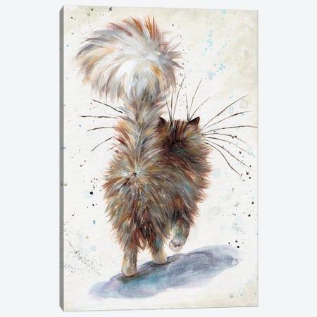 Fluffy Butt Canvas Print #KIH127} by Kim Haskins Canvas Wall Art