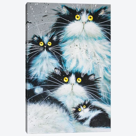 Family Of Fur Canvas Print #KIH17} by Kim Haskins Canvas Artwork