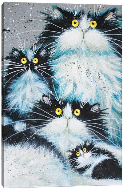 Family Of Fur Canvas Art Print
