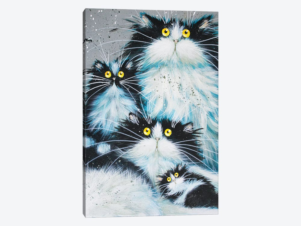 Family Of Fur by Kim Haskins 1-piece Canvas Artwork