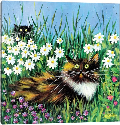 Flower Prowlers Canvas Art Print