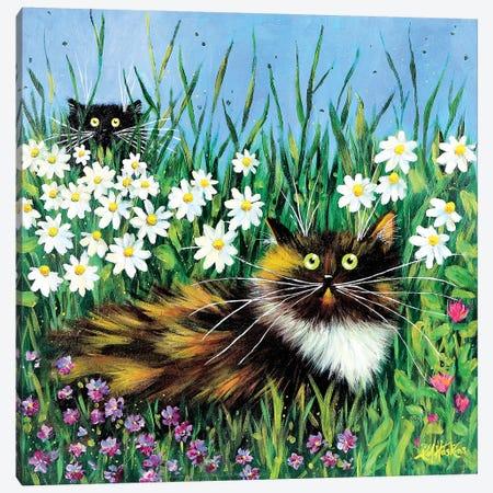 Flower Prowlers 3-Piece Canvas #KIH20} by Kim Haskins Canvas Art