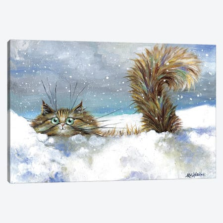 In A Flurry Canvas Print #KIH32} by Kim Haskins Canvas Art Print