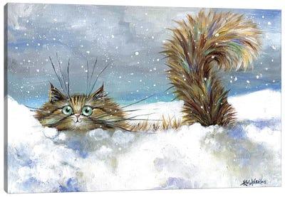 In A Flurry Canvas Art Print