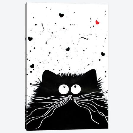 Loving Feline Canvas Print #KIH38} by Kim Haskins Art Print