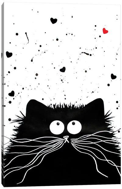Loving Feline Canvas Art Print