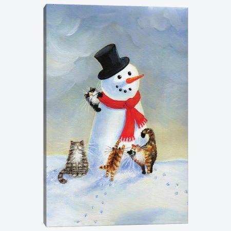 Snow Cats Canvas Print #KIH57} by Kim Haskins Canvas Artwork