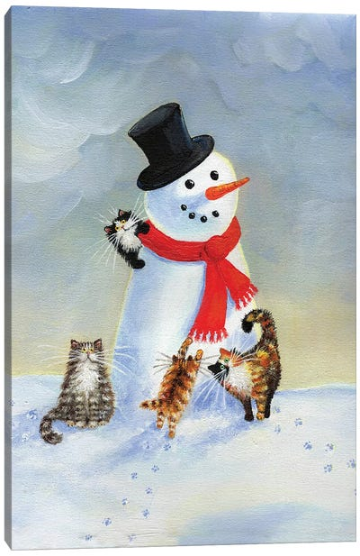 Snow Cats by Kim Haskins Canvas Art Print