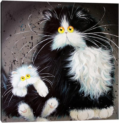 Tail Of Two Kitties Canvas Art Print