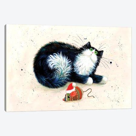 Merry Christmouse Canvas Print #KIH66} by Kim Haskins Canvas Print