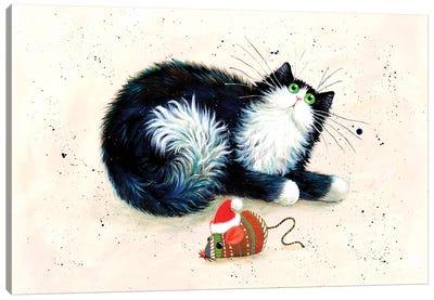 Merry Christmouse Canvas Art Print