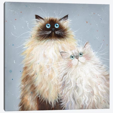 Sabrina And Sophie Canvas Print #KIH72} by Kim Haskins Canvas Art Print