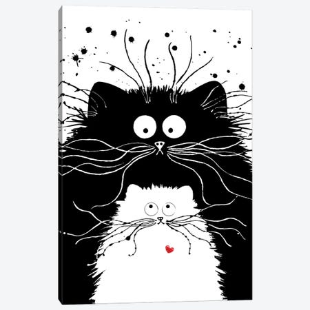 You're Purrfect Canvas Print #KIH74} by Kim Haskins Canvas Wall Art