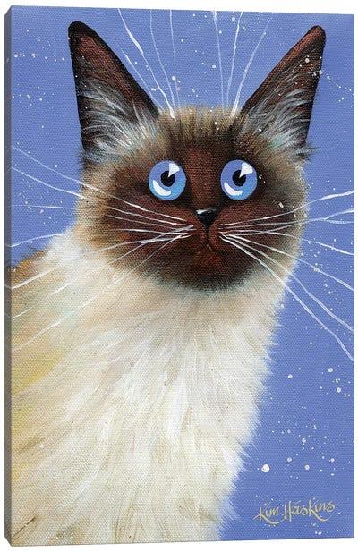 Blue Caboose Canvas Art Print