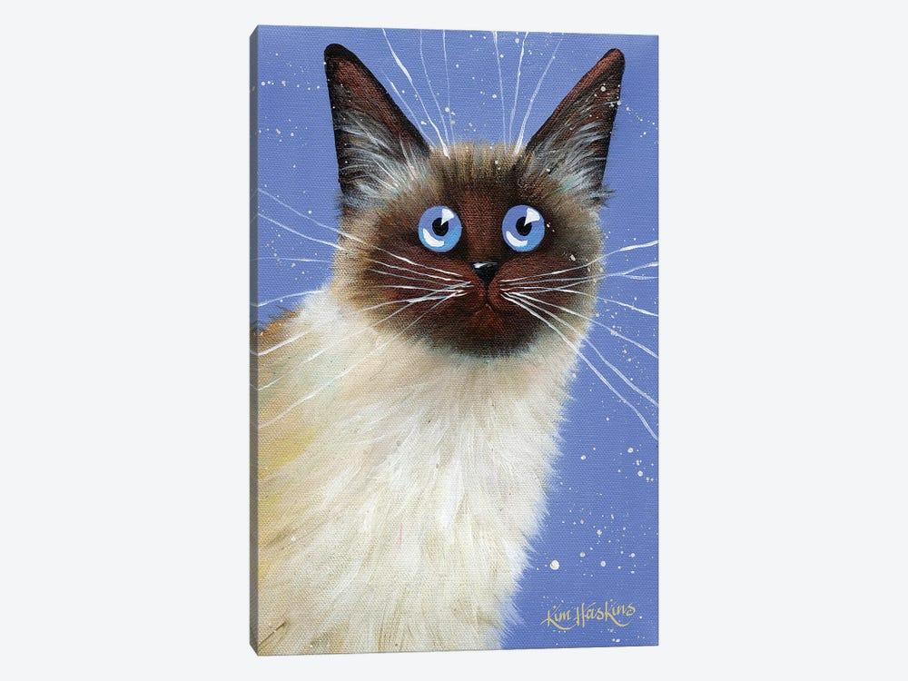Blue Caboose by Kim Haskins 1-piece Canvas Print
