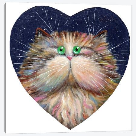 Heart Candy Cat Canvas Print #KIH96} by Kim Haskins Canvas Artwork