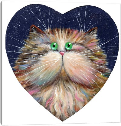 Heart Candy Cat Canvas Art Print