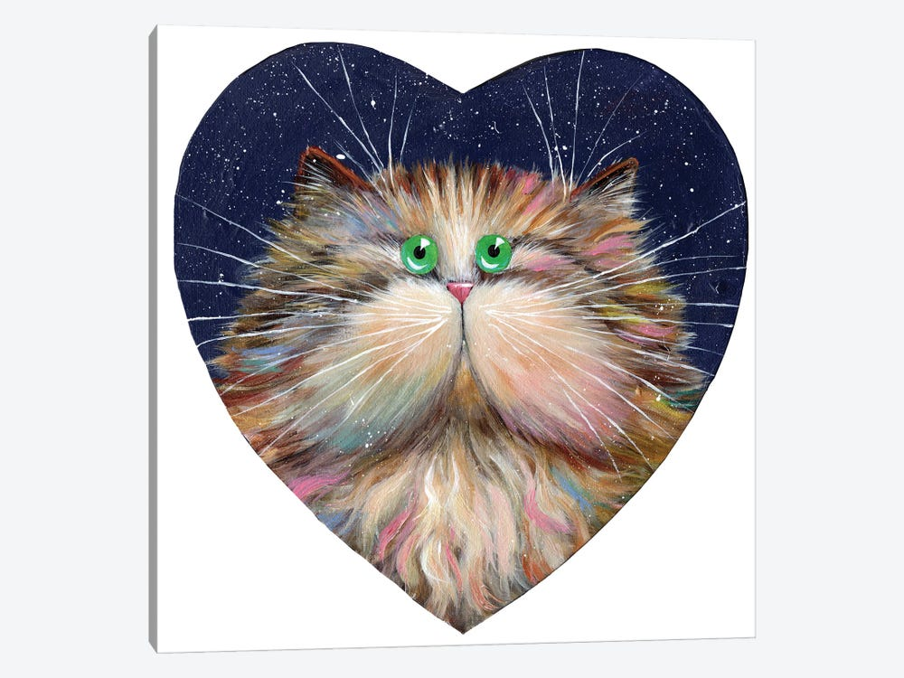 Heart Candy Cat by Kim Haskins 1-piece Canvas Art Print