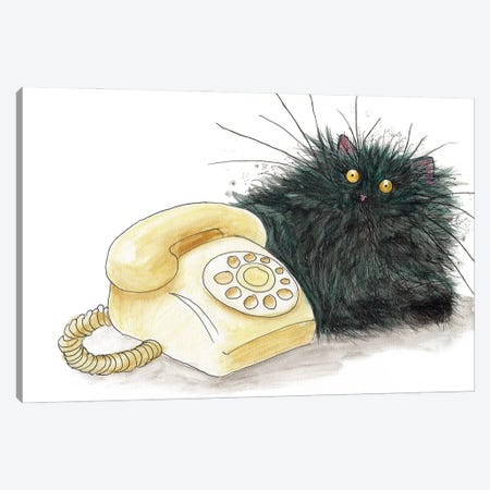 Call Me Cat Canvas Print #KIH99} by Kim Haskins Canvas Print