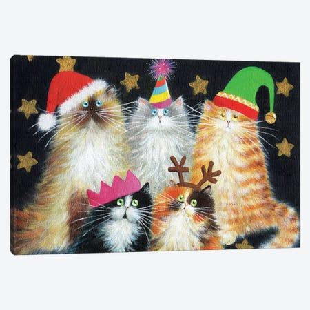 Christmas Cats Canvas Print #KIH9} by Kim Haskins Canvas Art Print