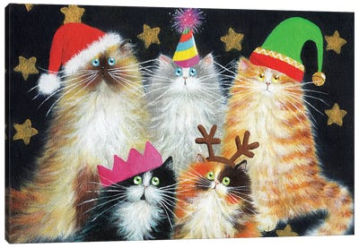 Christmas Cats Canvas Art Print