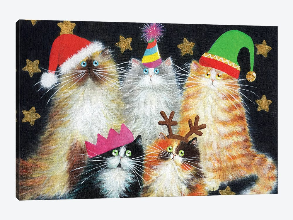 Christmas Cats Art Print By Kim Haskins Icanvas