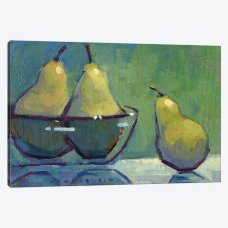 The Green Ones Canvas Print #KIK18} by Konnie Kim Canvas Artwork