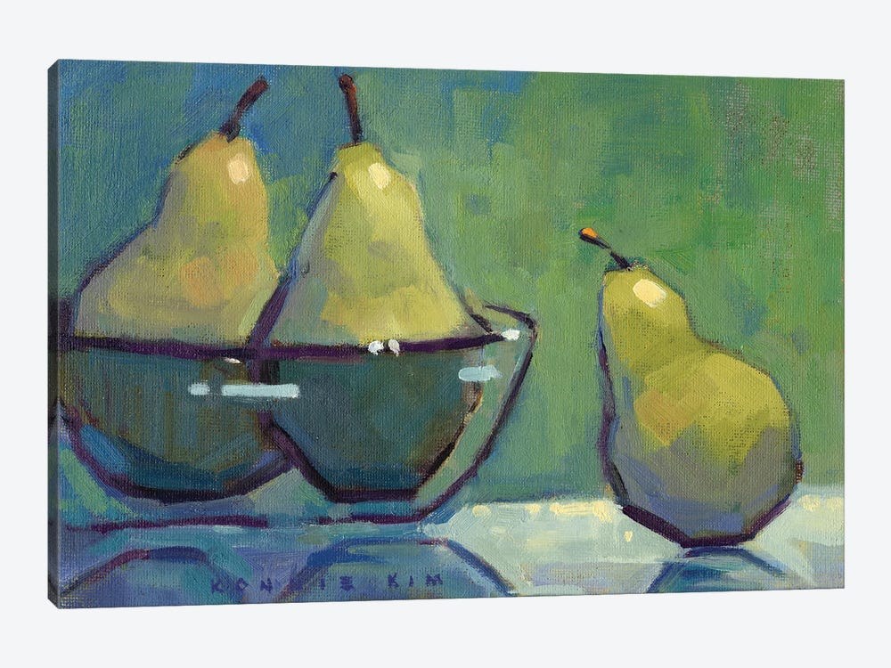 The Green Ones by Konnie Kim 1-piece Canvas Print