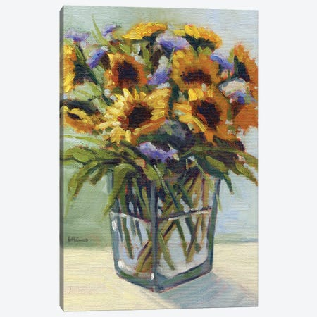 Summer Bouquet IV Canvas Print #KIK19} by Konnie Kim Canvas Artwork