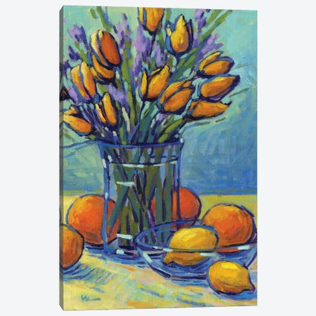 Tulips, Lemons, Oh My! Canvas Print #KIK28} by Konnie Kim Art Print