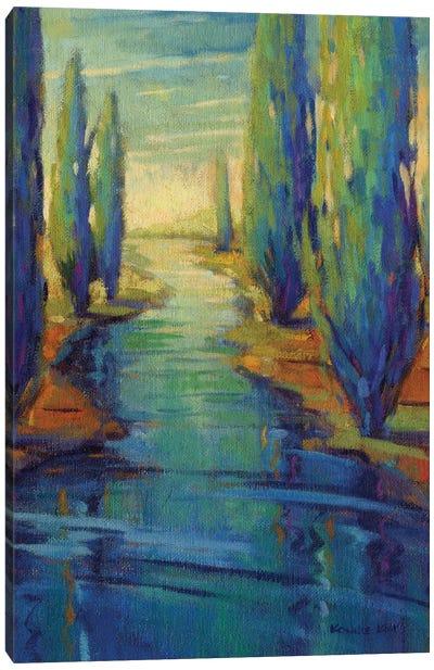 Along The Stream Canvas Art Print