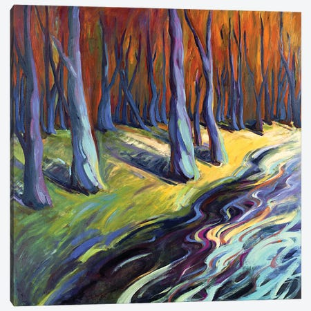 Blue Forest Canvas Print #KIK58} by Konnie Kim Canvas Wall Art