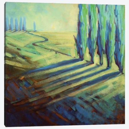 Aqua Canvas Print #KIK5} by Konnie Kim Art Print