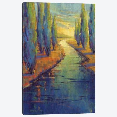 Cypress Reflecton Canvas Print #KIK63} by Konnie Kim Canvas Art Print