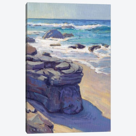 Shadow At Crystal Cove Canvas Print #KIK83} by Konnie Kim Canvas Print