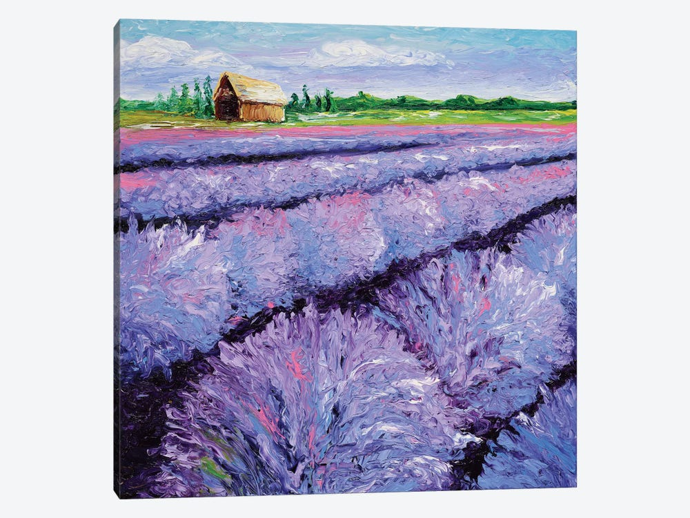 Lavender Breeze Triptych Panel I by Kimberly Adams 1-piece Canvas Art