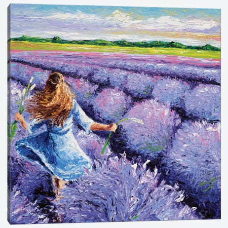 Lavender Breeze Triptych Panel III Canvas Print #KIM17} by Kimberly Adams Canvas Art Print
