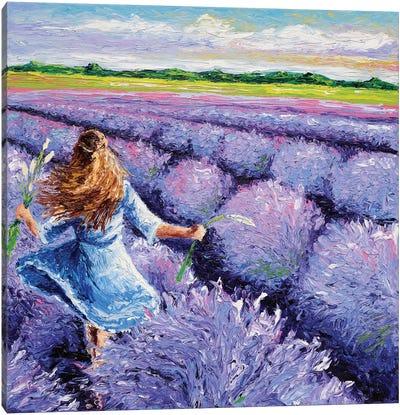Lavender Breeze Triptych Panel III Canvas Print #KIM17