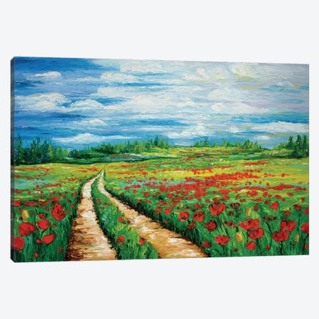 Pathway To Tranquility Canvas Print #KIM18} by Kimberly Adams Canvas Wall Art