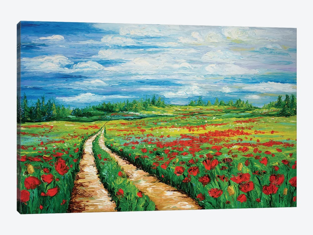 Pathway To Tranquility by Kimberly Adams 1-piece Canvas Print