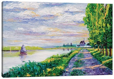 Afternoon Light (Tribute To Monet) Canvas Art Print