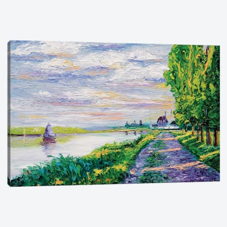 Afternoon Light (Tribute To Monet) Canvas Print #KIM1} by Kimberly Adams Canvas Wall Art